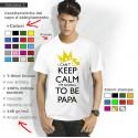 Maglietta Personalizzata Papà I Can't Keep Calm