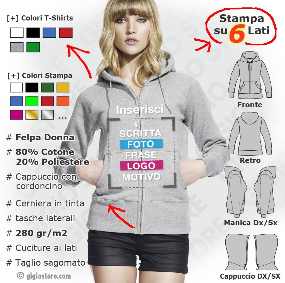 fd1081ddbb Felpe Personalizzate da donna - Gigio Store