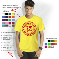 magliette i love papà, festa del papà regali, festa del papà magliette, magliette personalizzate festa del papà