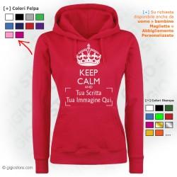 Felpa Donna Personalizzata Keep Calm