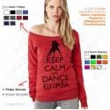 Felpa Keep Calm and Dance Kizomba - Donna Girocollo