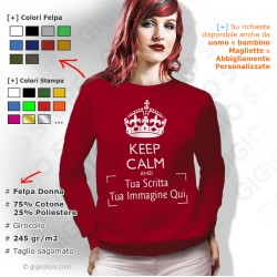 Crea Felpe keep calm Online, Personalizza Felpe keep calm, felpe donna keep calm, Felpa Personalizzata Keep Calm