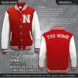 Felpa Americana Giacca College Style Bambino Felpe Scuola Varsity Jacket Personalizzate Giacche Bimbo Baseball Stile Americano