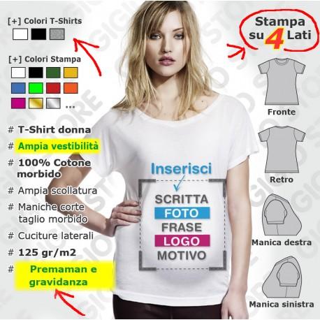 maglietta t shirt premaman personalizzata con tuo logo scritta e immagine