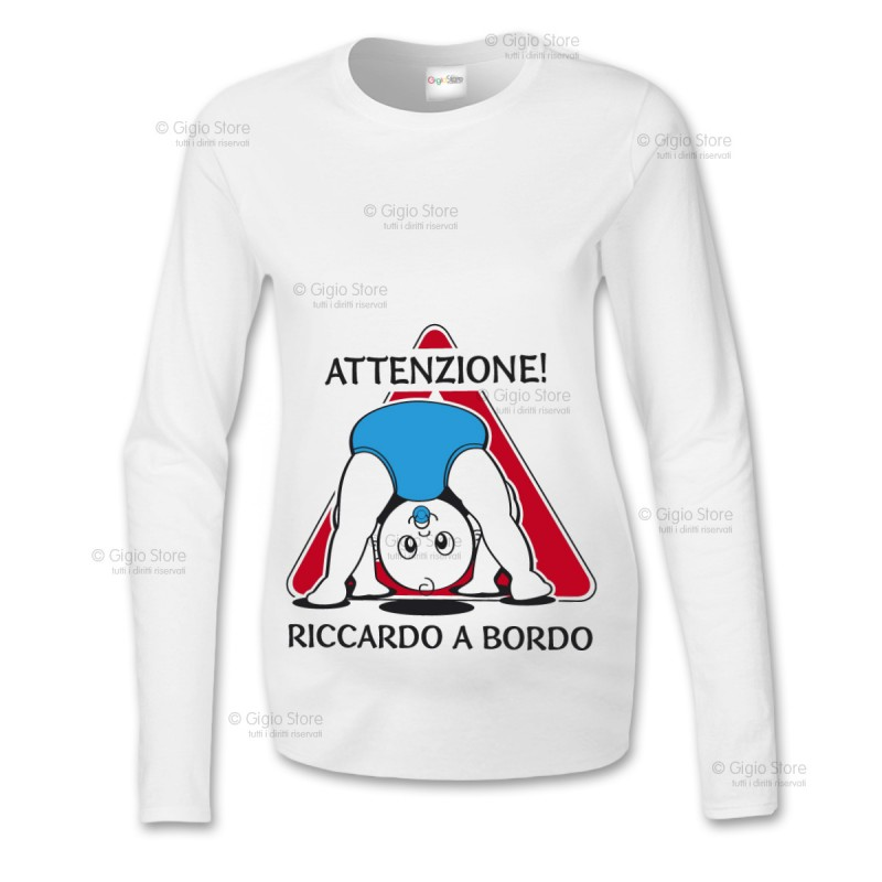 Amato T-Shirt Premaman Manica Lunga Baby on Board | Gigio Store CO17