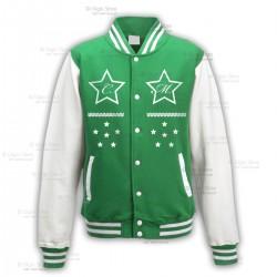 GIACCA COLLEGE Uomo Donna Unisex con STELLE colore Verde personalizzata con le Iniziali del Tuo Nome. Idee Regalo by Gigio Store