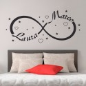 Wall Stickers Simbolo Infinito Amore Adesivo da Parete
