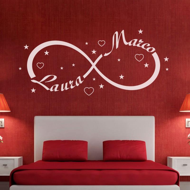 wall sticker adesivo muro simbolo infinito amore | gigio store - Adesivi Per Camera Da Letto