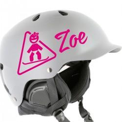 Kit Adesivo Baby Rider Snowboard con il Tuo Nome