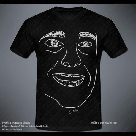 idee regalo Gigio Store Magliette personalizzate FACELINE T-Shirt con le linee del viso del volto
