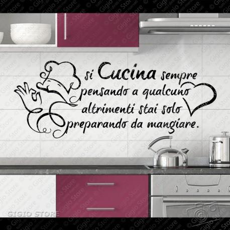 Wall Stickers Cucina Adesivi Murali Pareti Gigio Store ...