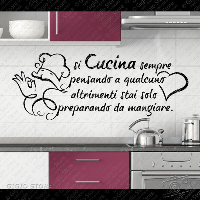 Wall stickers cucina adesivi murali pareti gigio store for Adesivi muro cucina