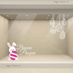 Vetrofanie Decorazioni Pasquali Adesivi Vetrine Pasqua coniglietto Pasquale