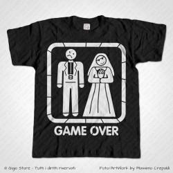 Maglietta Addio al Celibato - Game Over