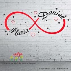 Wall Stickers Simbolo Infinito Amore Adesivo Murale da Parete