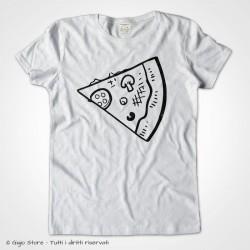 Maglietta per la Coppia con Pezzo di Pizza Complementare