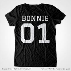 Maglietta abbinata per Coppie con Nome e Numero su retro