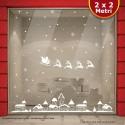 Vetrofania Natale Santa Claus