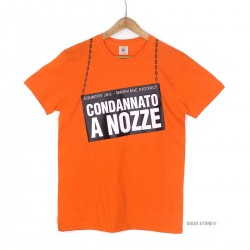 Maglietta Sposo Addio Celibato Condannato a Nozze t-shirt confortevole da indossare morbida al tatto colore arancione