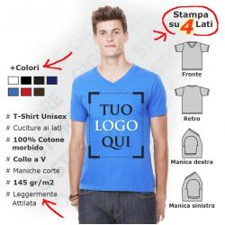 Maglietta Scollo a V Unisex