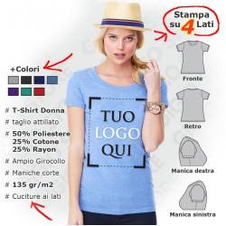 Maglietta Fashion Triblend da Donna