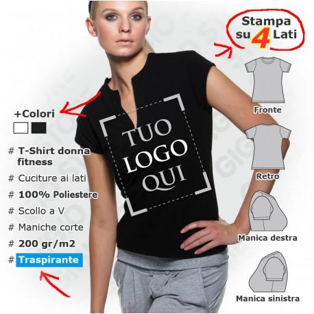 Maglietta Sportiva Fashion da Donna