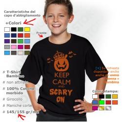 Maglietta Halloween Keep Calm Scary On