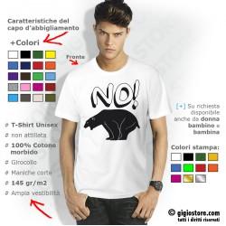 Maglietta Divertente Bear Shit