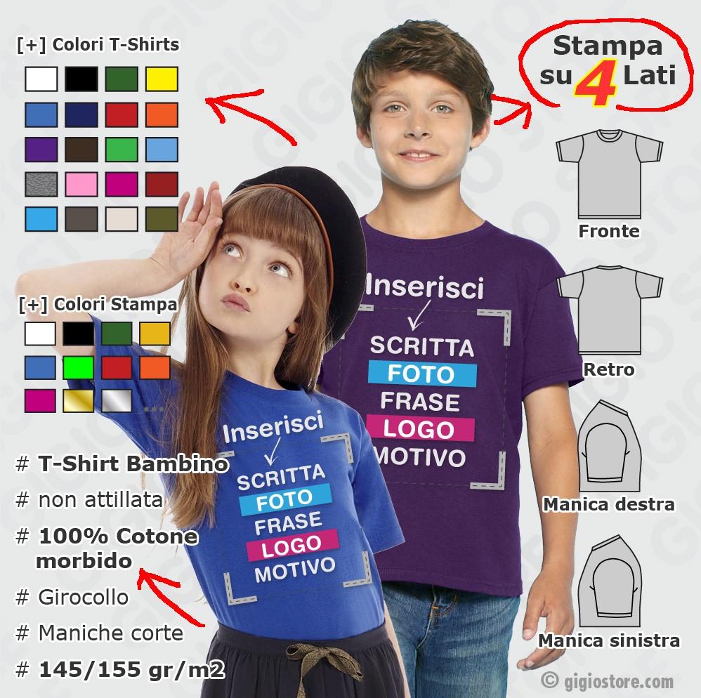 Magliette da Bambino Personalizzate - Gigio Store 2c7ccbd0b57c